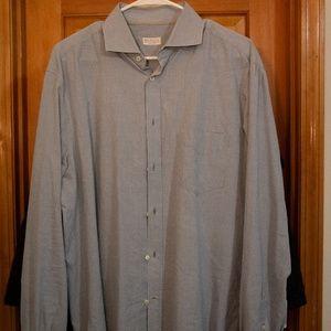 Brunello Cucinelli Button blue and white shirt L